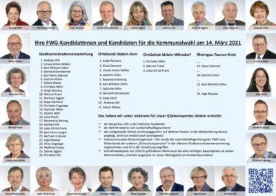 Prospekt der FWG für die Kommunalwahl 2021