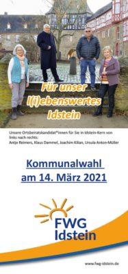 Kommunalwahlprospekt des FWG-OV Idstein-Kern
