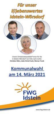 Kommunalwahlprospekt des FWG-OV Wörsdorf